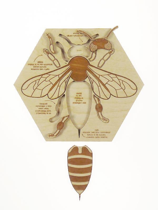Worker Bee Wooden Puzzle