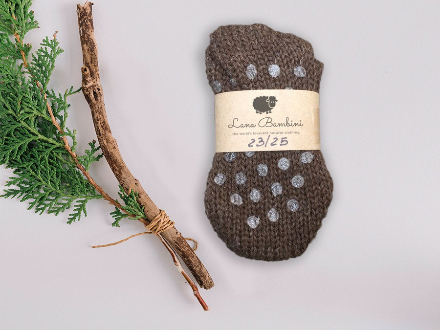 100% Woollen Socks (Kids Non-Slip) - Moo Like a Monkey