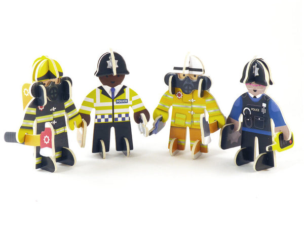 Police and Firefighter Play Set