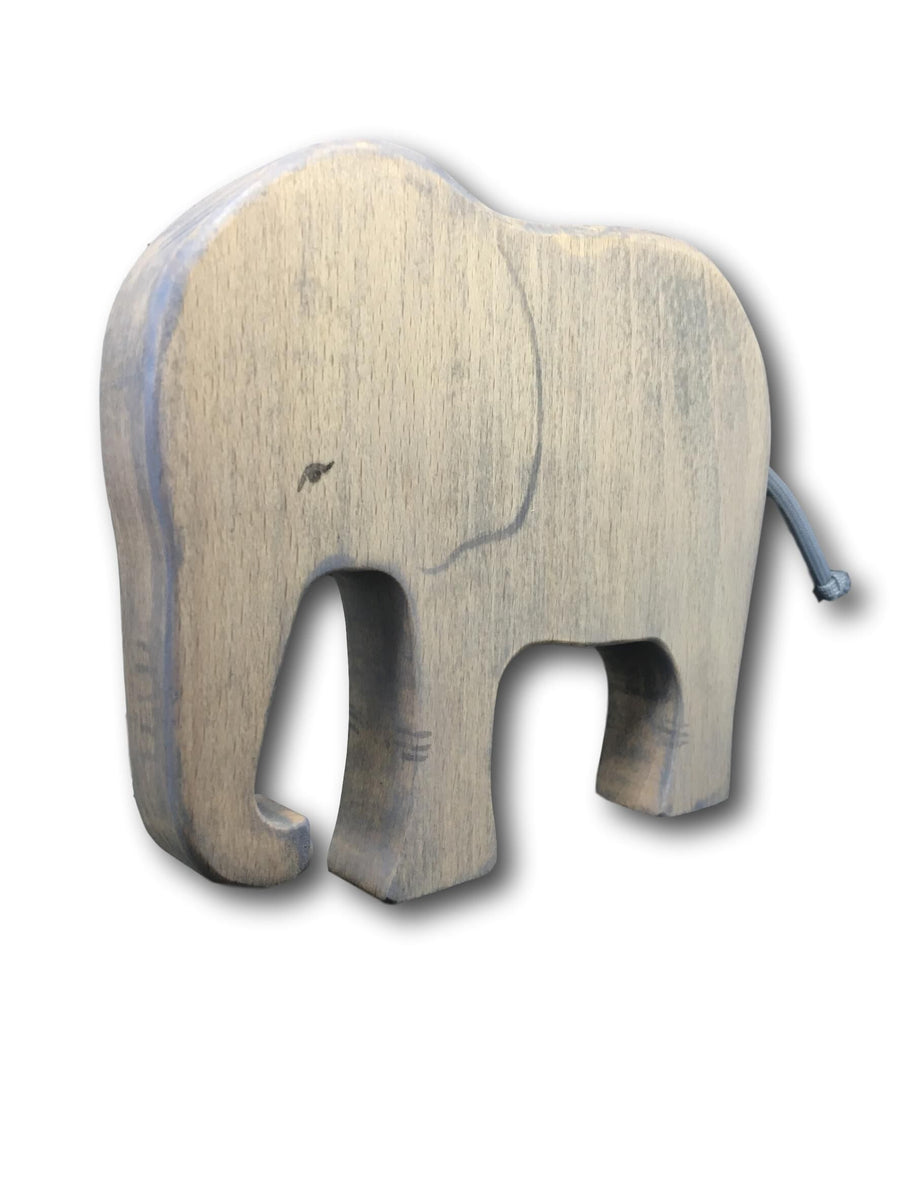 Handmade Wooden Elephant - Moo Like a Monkey