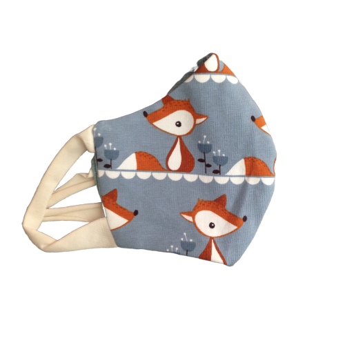 Organic Jersey Face Masks (For Kids and Adults) - Foxes