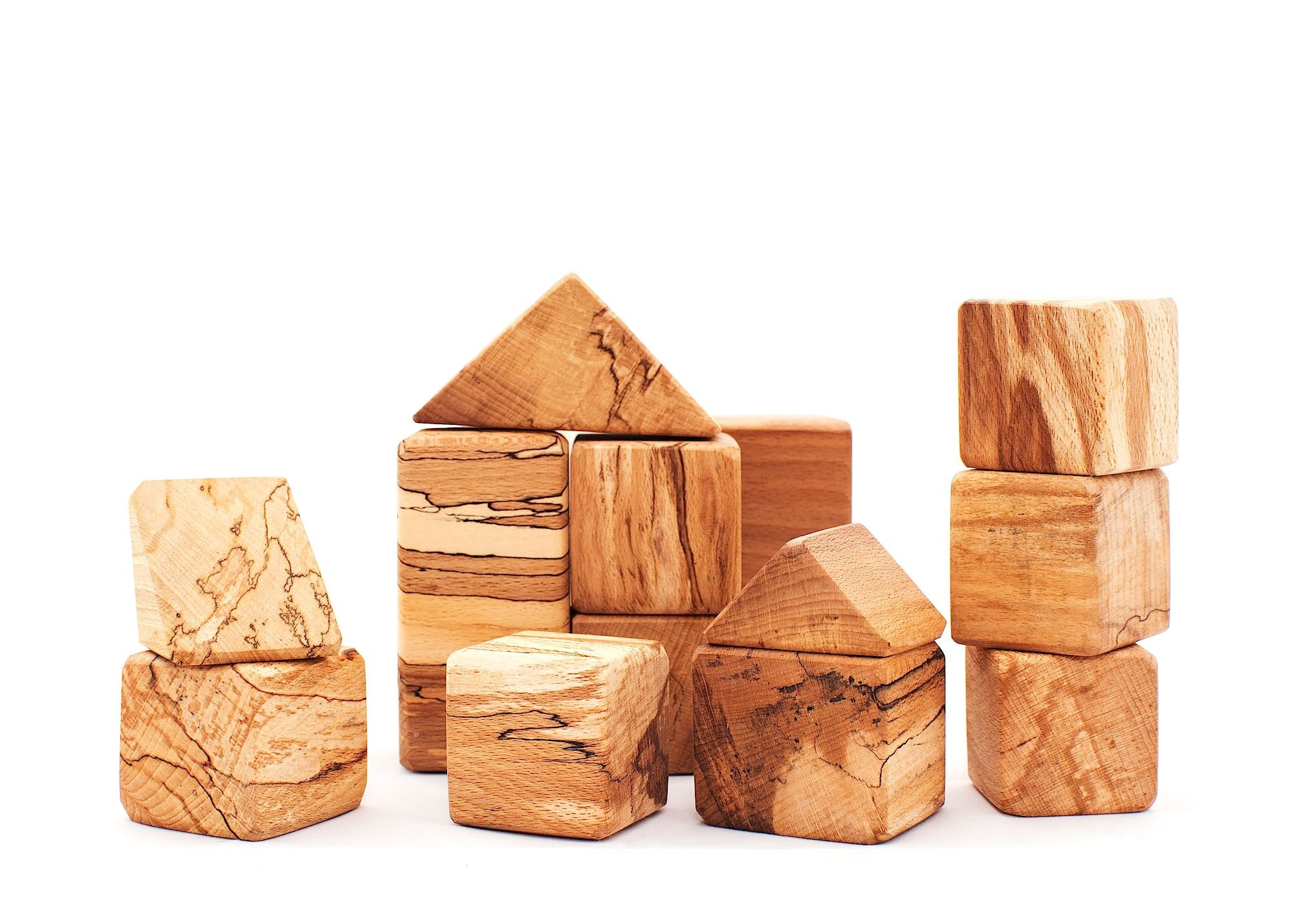 Spalted Beech Wooden Blocks - Moo Like a Monkey