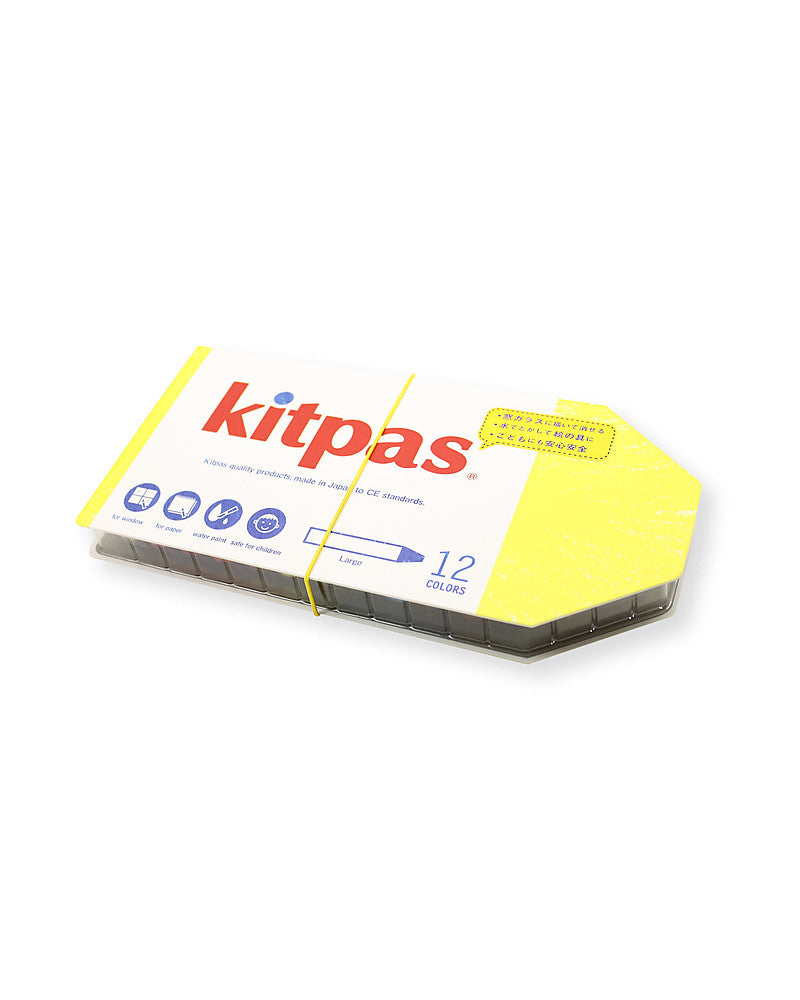 Kitpas Multi-surface Crayon Large 12 Colours - Moo Like a Monkey