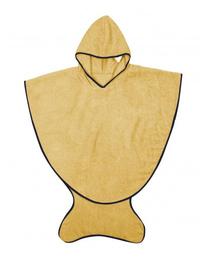 Yellow shark towel cape