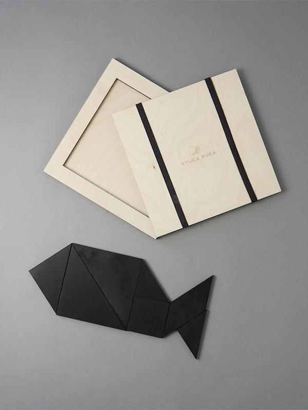 Tangram Wooden Chalk board Puzzle