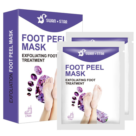 Swan Star Natural Smooth Moisturizing Lavender 2 Pairs Exfoliating Foot Peel Mask