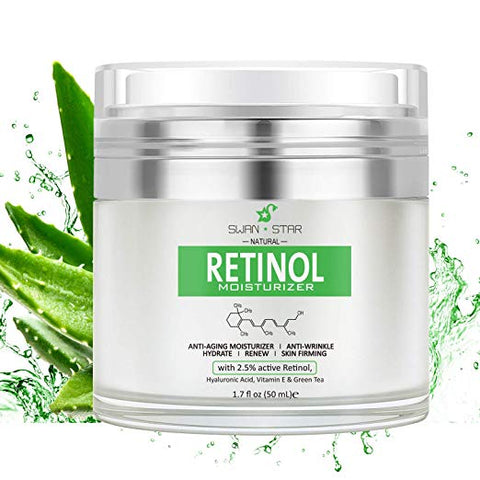 SWANSTAR Natural Daily Organic Age-defying Face Retinol Moisturizer Cream for Day and Night