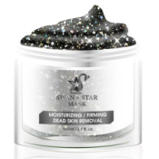 swan star glitter face mask