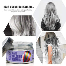 Instant Hair Wax Dye Styling Cream Mud(White)