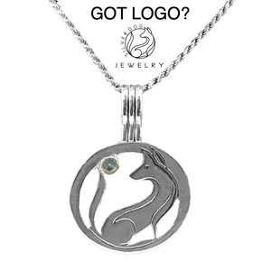Logo Necklace in sterling silver