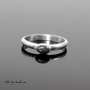 Silver Stacker:  Malachite | SilverDog Jewelry