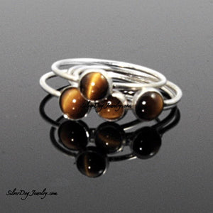 Silver Stacker:  Tigers Eye | SilverDog Jewelry