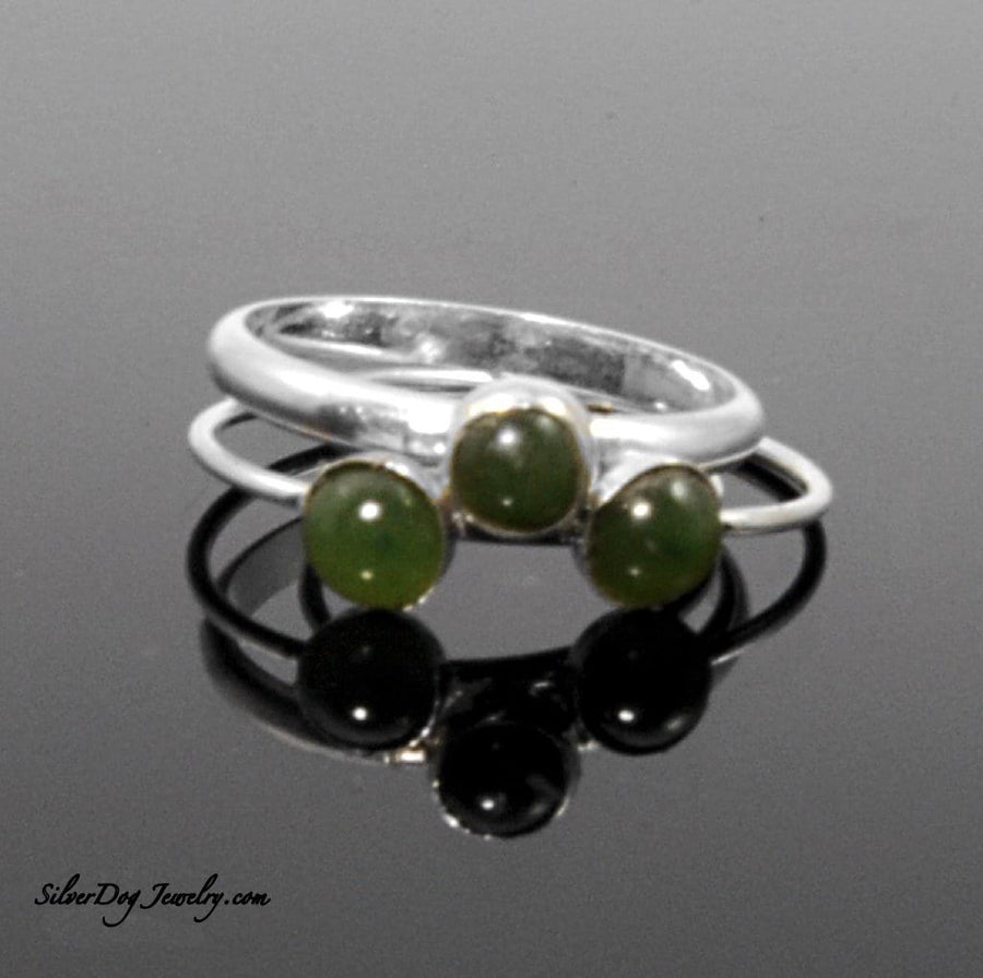 Silver Stackers:  Jade | SilverDog Jewelry
