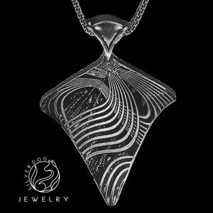 WooHoo Pendant Shield | SilverDog Jewelry
