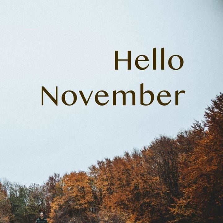 Hello November! What is your...