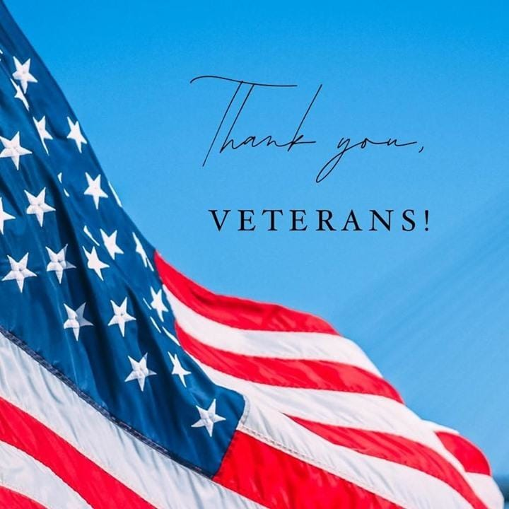Thank you to our Veterans,...