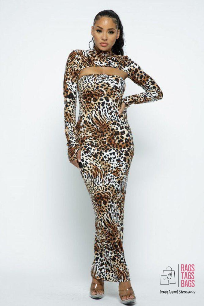 Cheetah Dress Set