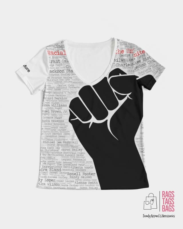 BLM (Black Fist) Women's V-neck