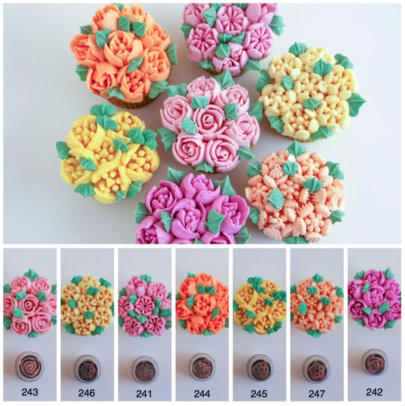 Instant flower piping tips