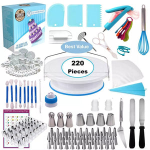 220-piece cake turntable set - Cake Magician