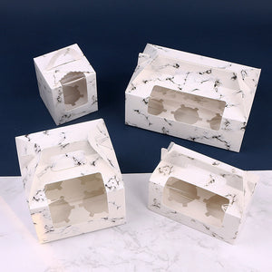 Marble Cupcake Boxes - Cake Magician