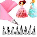 Cake baking set with bag and tips - Cake Magician