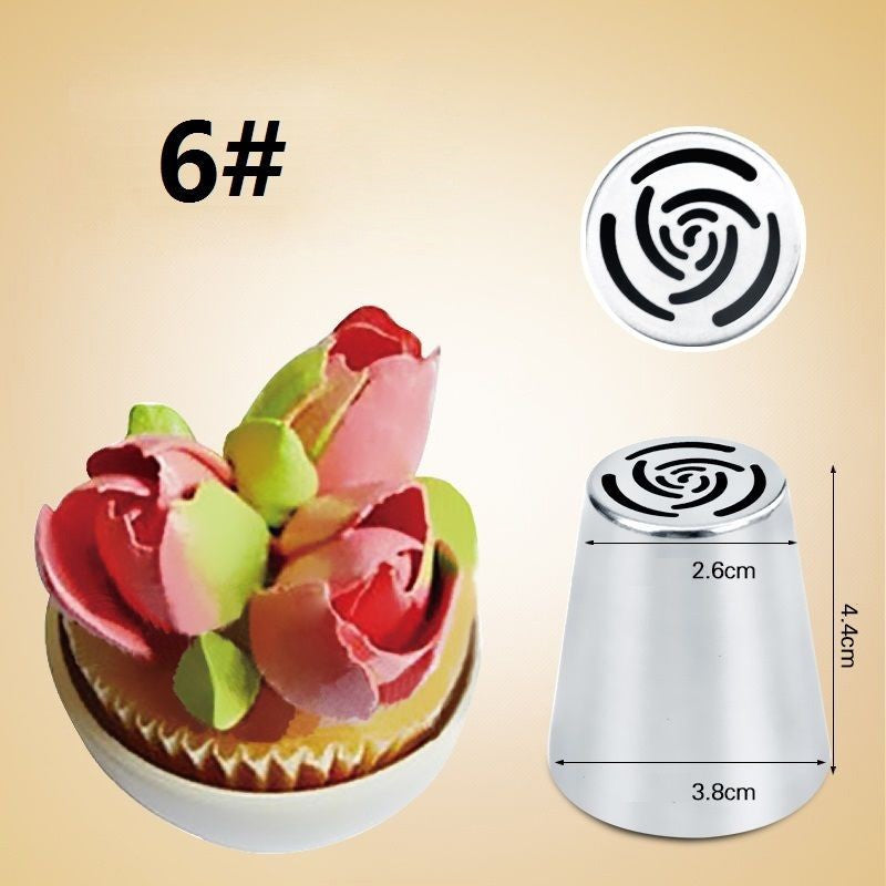 7 Piece Piping Nozzle set - Cake Magician