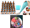 35 Piece piping nozzles + piping bag + 100 cupcake cups - Cake Magician