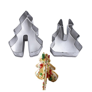 8Pcs Stainless Steel 3D Christmas Cookie Cutters set - Cake Magician