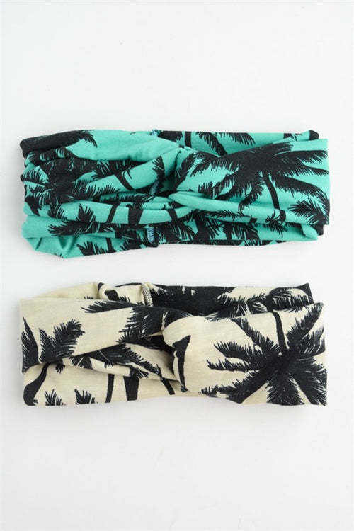 Palm Tree Twisted Headband