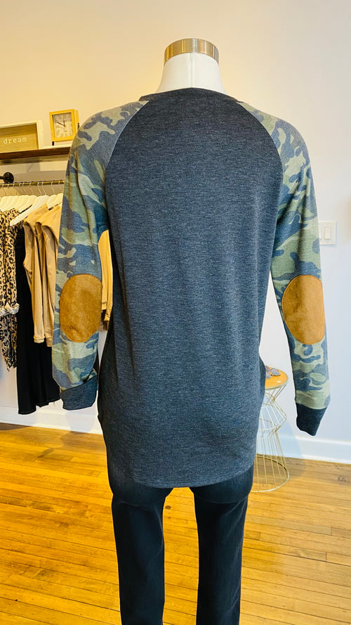 Camo Sleeve Top