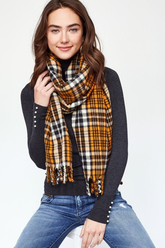 Plaid Oversized Scarf