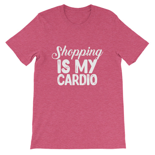 Shopping is My Cardio Short-Sleeve Unisex Jersey T-Shirt