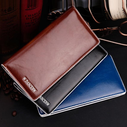2015 Men Luxury Bifold Business Leather Wallet Card Holder Coin leather wallet
