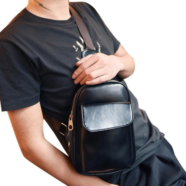 2016 Fashion Men Bag Zipper Pockets  Chest Men Waist Bag with Cell Phone Pouch Bags bolsa feminina para mujer #25