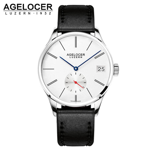 Agelocer Original Men's Watch Luxury Famous Brand Men's Mechanical Watches Men Hour Date Clock Male Leather Dress Watches