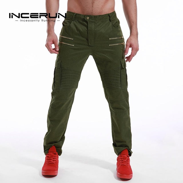 2017 Autumn Spring Men Chino Cargo Pants Military Style Cargo Trousers Casual Joggers Fashion Sweatpants Slim Fit Men Slacks