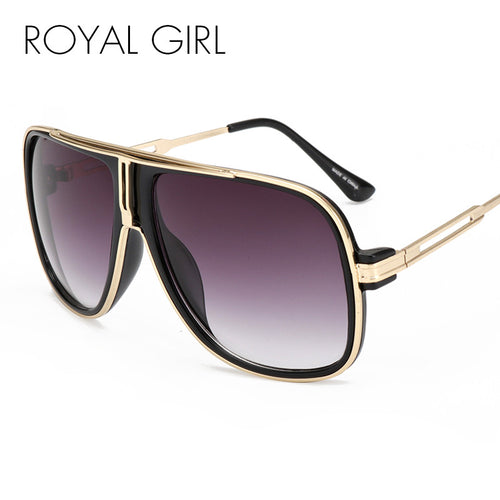 ROYAL GIRL Vintage Men Eyeglasses Frames Women Oversize clear Lens Glasses Spectacles ss056