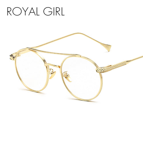 ROYAL GIRL Men Vintage Eyeglasses Frame Women Round Spectacles Brand Design Optical Glasses UV400 ss040