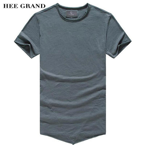 HEE GRAND 2018 Hot Sale Men Summer Casual T- Shirts O-Neck Whole Cotton Breathable Material Solid Color Male Top Tees MTS2388