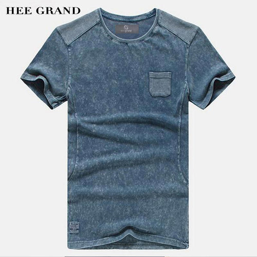 HEE GRAND 2018 Hot Sale Men Summer T- Shirts Casual Typical Style 100% Cotton Comfortable Material Men Top Tees
