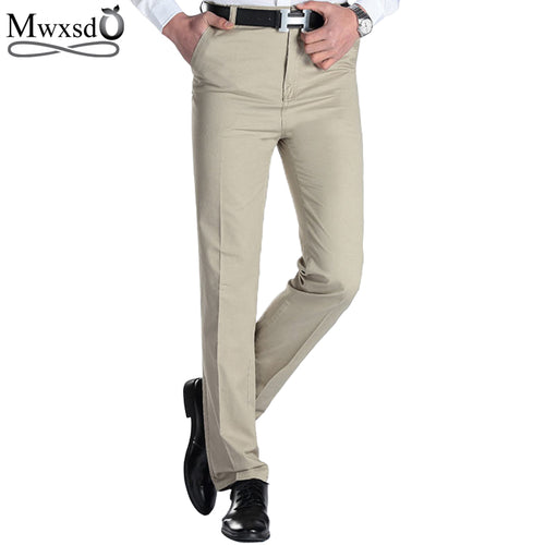 2018 Men's Casual pants brand Men thin long dress pants Straight Business Casual male Pants Leisure Long Trousers