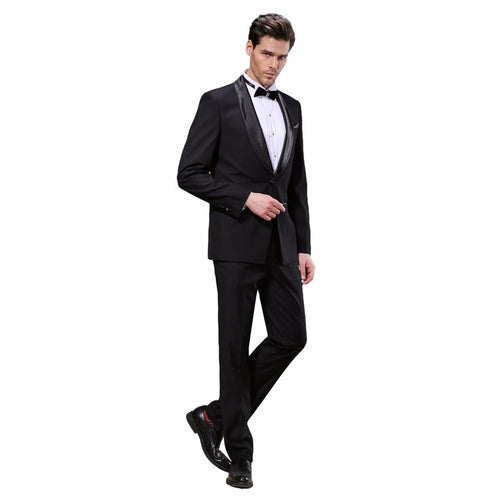 DARO Luxury Mens Suits Jacket Pants Formal Dress Men Suit Set Wedding Suits Groom Tuxedos (Jacket+Pants) Wihte