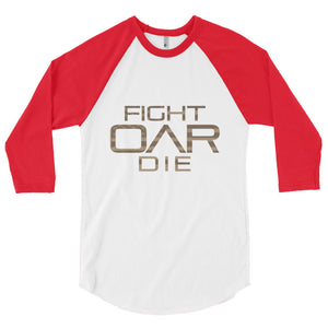 3/4 sleeve raglan shirt (blank back)