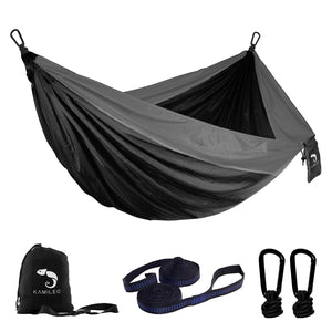 Camping Hammock(Gray and Blak)