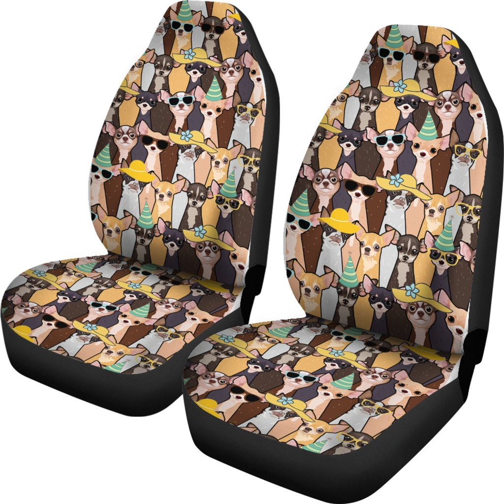 CHIHUAHUA PARTTERN CAR SEAT COVERS