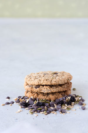 Load image into Gallery viewer, gluten free Everything cookies, oatmeal raisin chocolate chip pumpkin seed poppy seed coconut
