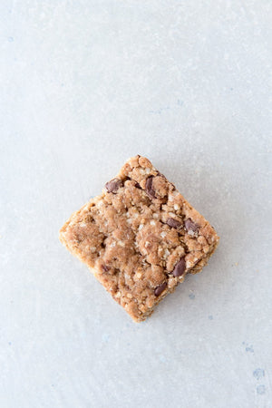 Load image into Gallery viewer, top view single gluten free vegan chocolate chip cookie bar