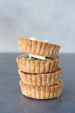 stack of gluten free pastry mini quiche shells