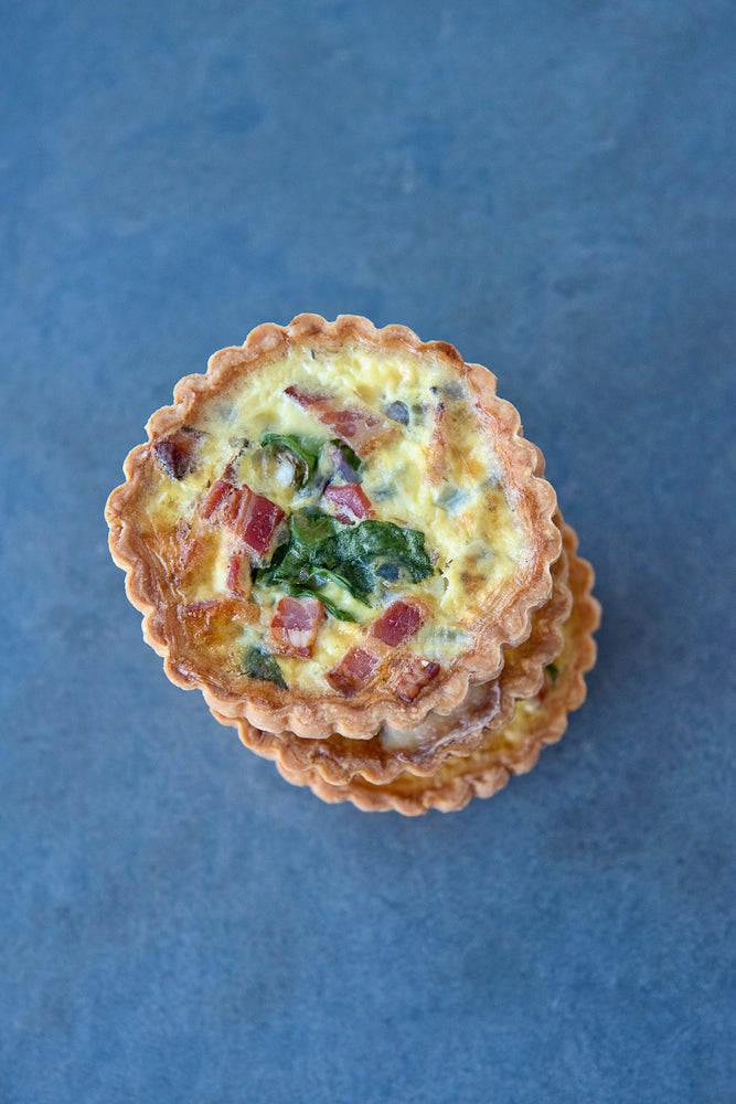 Load image into Gallery viewer, top view stack 2 gluten free bacon quiche